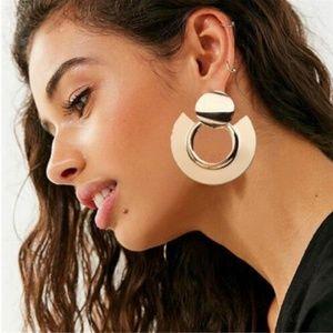 Boho Simple Geometric Circle Ear Stud Earring